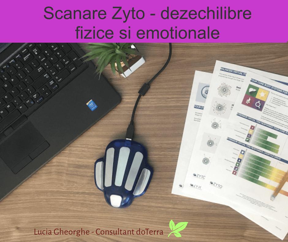 Consultant în aromaterapie, scanare dezechilibre Zyto